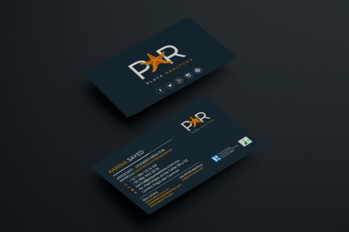 Branding-Digital-Playa-Realtors-business-cards