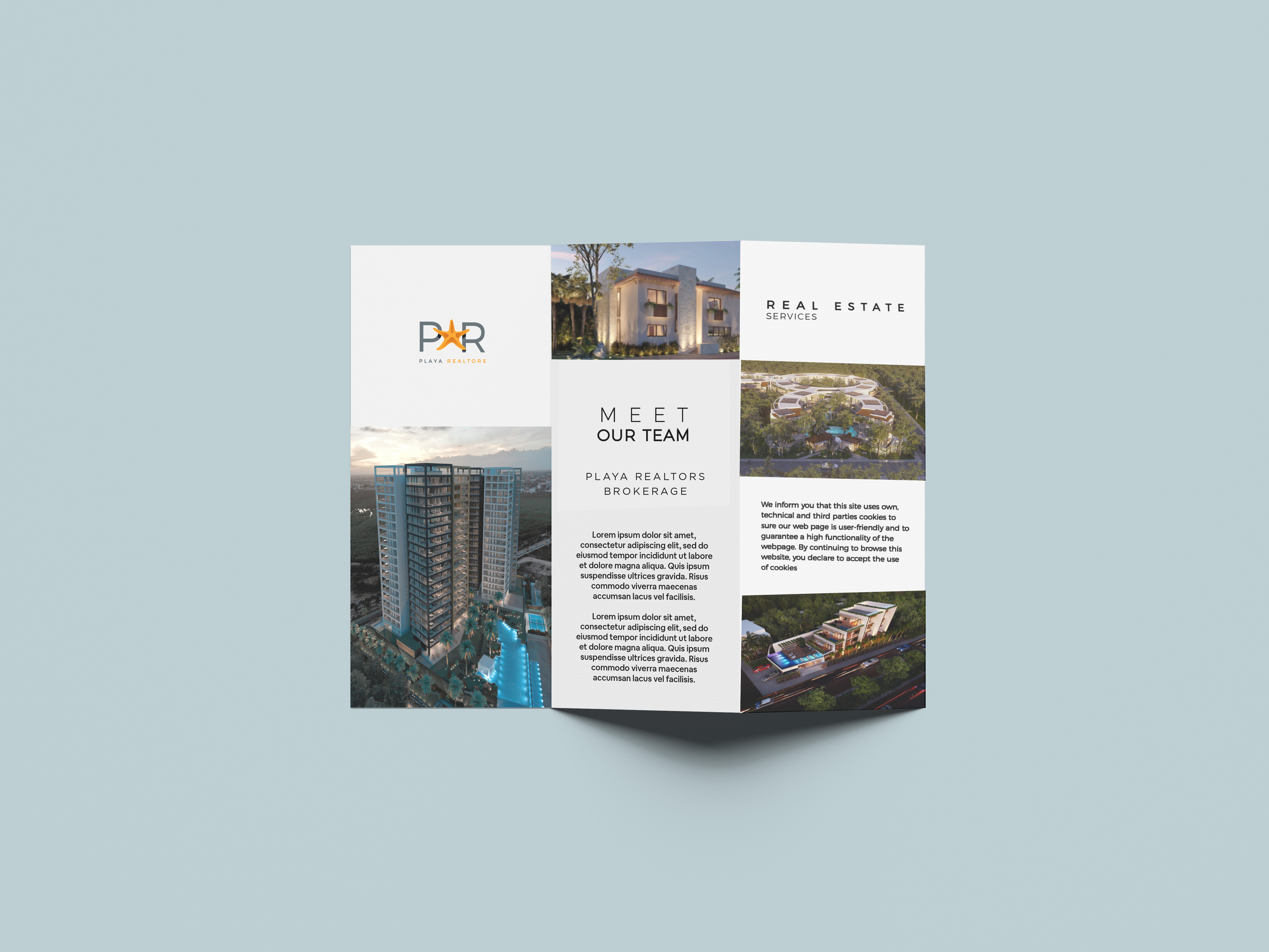 Folded Brochure Mockup by Anthony Boyd Graphics